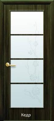 Дверь Виктория стекло и рисунок Р4 экошпон