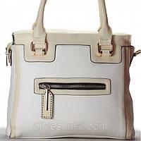 Женская сумка Gilda Tohetti белая с бежем, фото 1