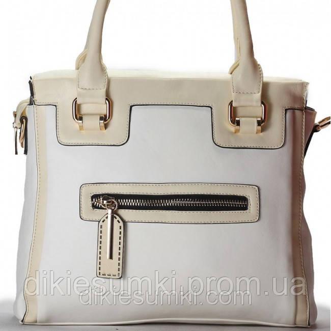 Женская сумка Gilda Tohetti белая с бежем