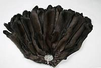 Шкуры соболя баргузинского темные, выделанные, шубные наборы