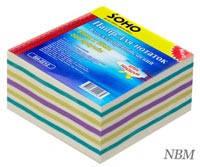 Блок бумаги для записей Микс цветной, 85 мм х 85 мм, 300 листов, проклеенный, в индивидуальной упаковке, Soho (3828.2)