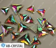 Crystal AB. Пришивные стразы Треугольники 22 мм (Эконом класс)