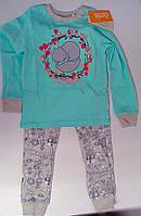 Пижама для девочек Бирюзовый 122 см 6 лет КП189 Бэмби Украина