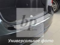 Защитная хром накладка на задний бампер (планка без загиба) Citroen C-Crosser (ситроен с-кроссер 2007+)