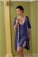 Халат женский домашний Shato - 404/1 (женская домашняя одежда для сна, дома и отдыха, ночная)