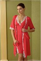 Домашний комплект Shato - 404 (женская одежда для сна, дома и отдыха, домашняя одежда, ночная)