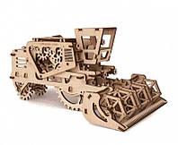 Механический деревянный 3D пазл Комбайн - «Ukrainian Gears»