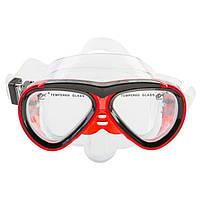 Маска детская для плавания и снорклинга Dolvor M 226JR (красный)