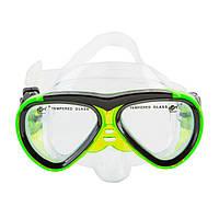 Маска детская для плавания и снорклинга Dolvor M 226JR (салатовый)
