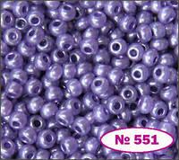 Бисер №10 фиолетовый бледный