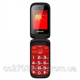 Мобильный телефон Bravis Clamp Red