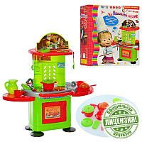 """Игровой набор """"Кухня"""" ММ 0077, """"На Машиной кухне"""", кухня 80*78*39 см, 22 предмета, звук, свет, на батарейках,"""
