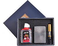 Подарочный набор 3в1 Зажигалка, бензин, мундштук №4723-5