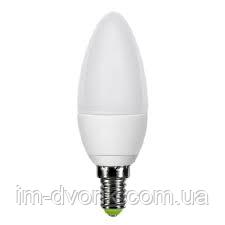 Лампа Lemanso LED C37 E14 7,5W 600LM 6500K 230V матовая / LM384 - ИМ Дворик в Киеве