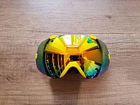 Горнолыжная маска Be Nice. Желтая рамка.