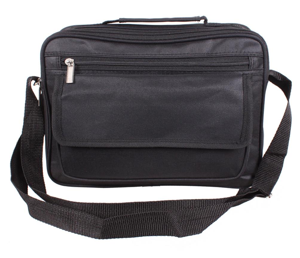 Мужская сумка через плечо черного цвета 301819