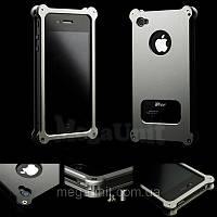 Abee. Противоударный алюминиевый чехол для Apple iPhone 4/4S graphite, фото 1