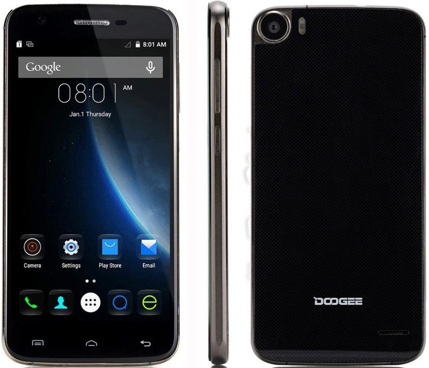 Смартфон Doogee F3 pro, 2sim, экран 5'' IPS, 13/5Мп, 3/16Gb, 8 ядер, Android 5.1, Gorilla Glass
