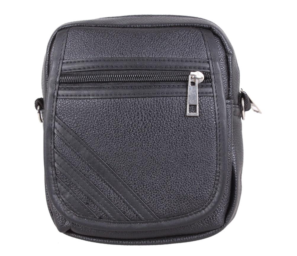 Мужская сумка из кожзаменителя 301402 черный