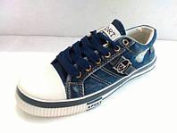 Мужские кеды джинсовые синий джинс размеры 41- 46 белая подошва  (мокасины - кроссовки ) KED-17-005