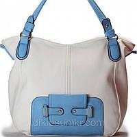 Женская сумка Giorgio Ferrilli белая с синим, фото 1