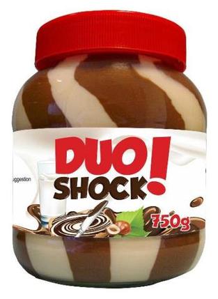 Шоколадно-ореховая паста Duo Shock, 750г, фото 2