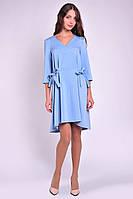 Повседневное романтическое женскео платье ассиметричной длины, фото 4