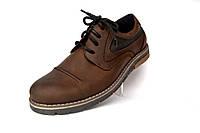 Коричневые полуботинки мужские кожаные Rosso Avangard Winterprince Street Brown