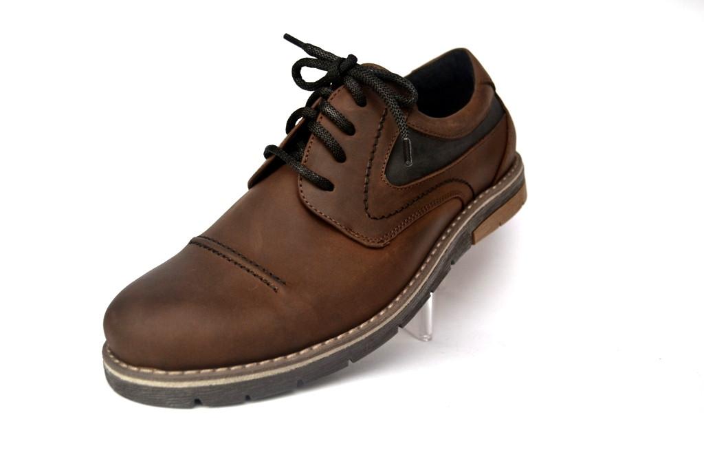 Коричневые полуботинки мужские кожаные Rosso Avangard Winterprince Street  Brown a01a025e3754a