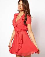 Шифоновое платье с коротким рукавом