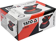 Пневмошлифмашинка эксцентриковая 150mm Yato YT-09740, фото 3