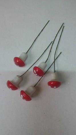 Декоративные грибочки,грибочки для декора и композиций, фото 2