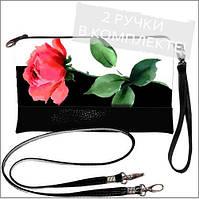 Женская сумочка клатч - цветок Розы