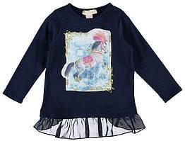 Реглан для девочки LC Waikiki синего цвета с лошадкой