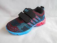 Кроссовки детские оптом, 26-31 р., текстиль, на липучке надпись Sport, черно-синие