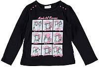 Реглан для девочки LC Waikiki черного цвета с картинками
