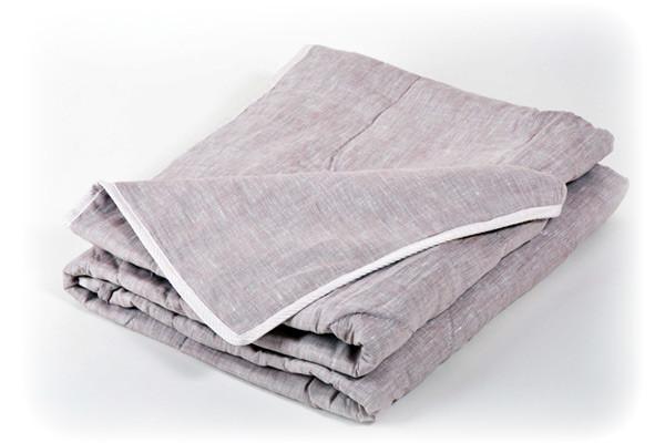 Одеяло со льном 170х210см зимнее