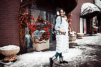 Примерка Жилета из меха финского песца в шоу руме г.Харькова, цвет белый, длина 110см, 42 р.в наличи