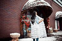 Жилет в наличии  в шоу руме г.Харькова из меха финского песца, цвет белый, длина 110см,42 размер