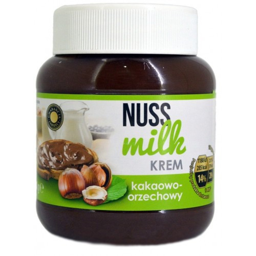 Nuss milk krem молочный шоколад и орехи 400 г