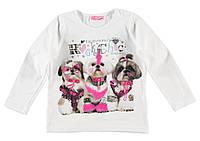 Реглан для девочки LC Waikiki белого цвета с тремя собачками