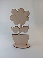 Цветок в вазоне. 3D заготовка для декупажа и росписи.