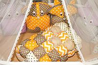 """Яркий постельный комплект для новорожденного """"Веселые Еноты"""" ТМ Куписон , фото 1"""