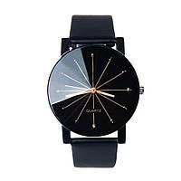 Cтильные оригинальные модные женские часы , черные