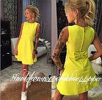 Платье короткое с бантом  сзади