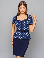 Платье женское, цвет тёмно-синий, размер 48