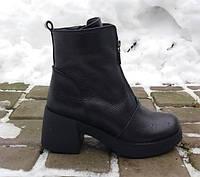 Ботинки весенние. кожаные полусапоги. деми ботиночки. женские кожаные сапоги на весну.
