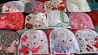 Детские трикотажные  шапочки  Цветы и камни девочкам от 3 лет до взрослых размеров S215