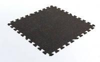 Коврик-пазл под тренажер резиновый 1шт 100x100x0,6см  (черный)