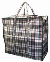 Господарська сумка баул з поліпропілену клітка №3 (Картата)